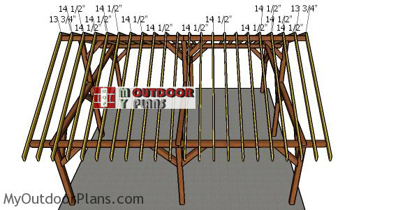 Fitting-the-rafters-to-the-24x24-pavilion