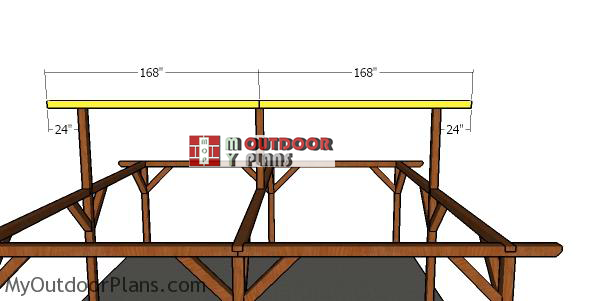 Fitting-the-ridge-beams