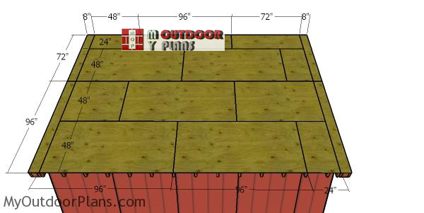 Fitting-the-roofing-sheets---large-shed