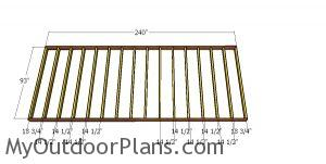 Floor frame - 8x20 lean to shed