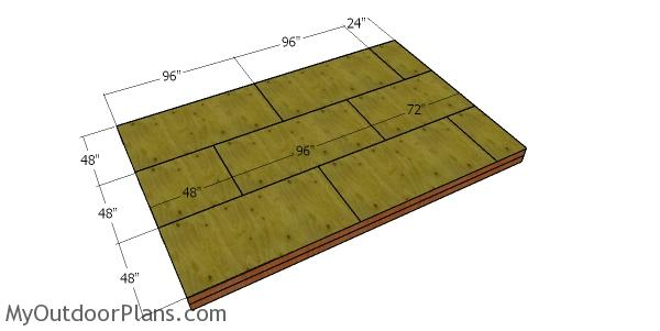 Floor sheets - 12x18 shed with lean to roof