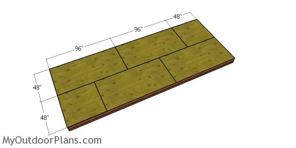 Floor sheets - 8x20 lean to shed