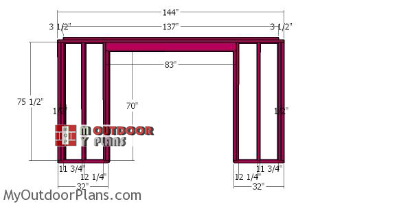 Front-wall-frame-for-8x12-wood-shed