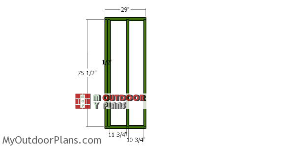 Front-wall-frames---8x20-shed