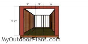 Front wall siding sheets - 10x20 shed