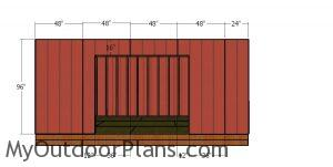 Front wall siding sheets - 12x18 shed