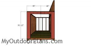 Front wall siding sheets - lean to shed