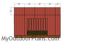 Front wall top siding sheets