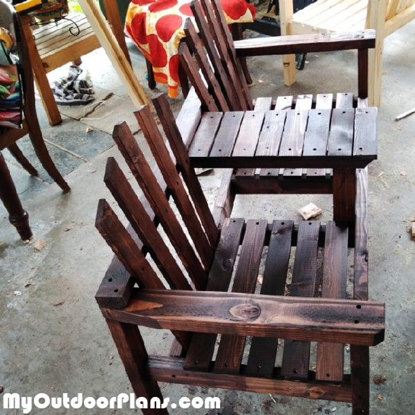 Adirondack Double Chair Bench with Table - DIY Project