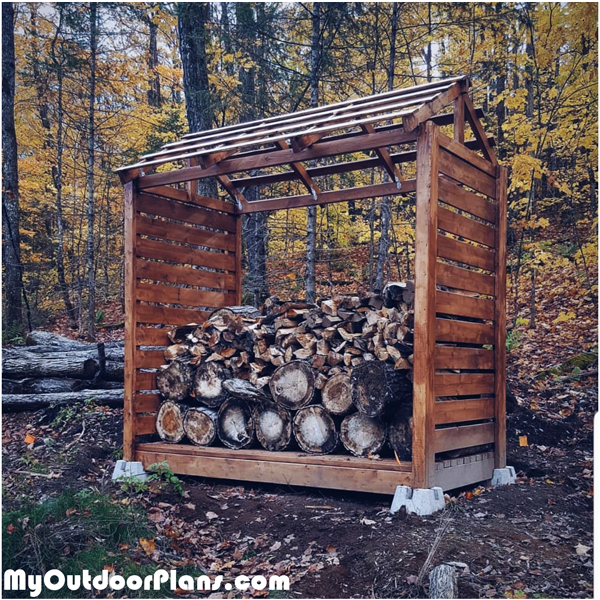 Small Firewood Shelter - DIY Project