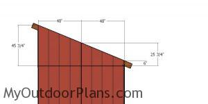 Lean to side siding panels