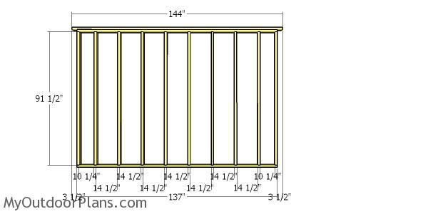 Plain side wall frame