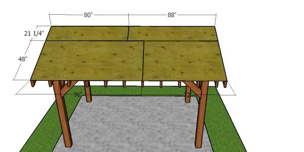 Roof sheets - 8x12 pavilion
