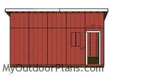 Side door jambs - 8x20 lean to shed