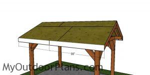 Side roof trims - 8x12 pavilion