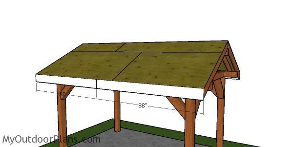 Side roof trims - 8x12 pavilion