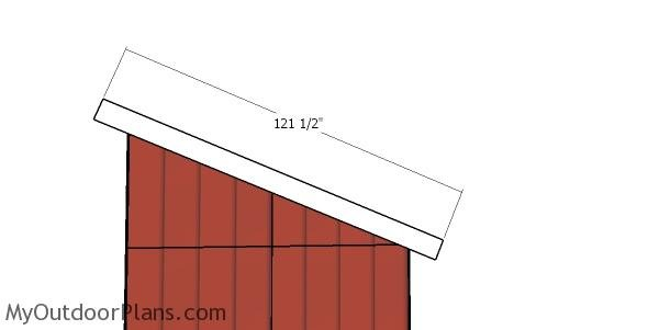 Side roof trims - large lean to shed