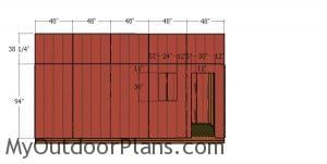 Side tall wall siding sheets - 8x20 shed