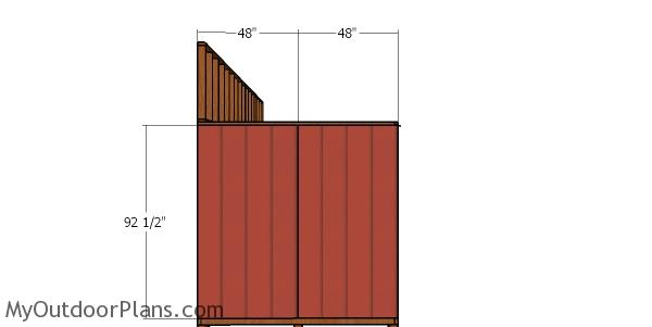 Side wall siding - 8x20 lean to shed