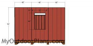 Side wall siding sheets - 12x18 shed