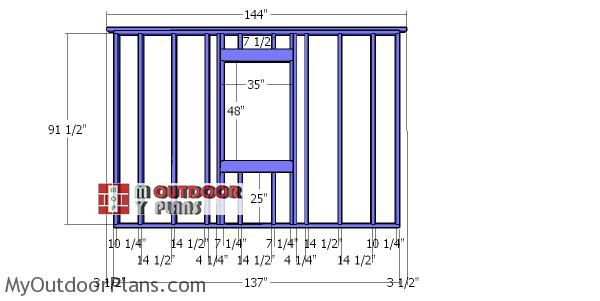 Side-wall-with-frame---12x18-lean-to-shed