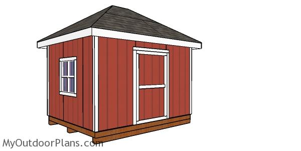 10x12 Hip Roof Shed Plans