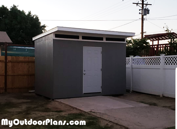 DIY 10x12 Lean to Shed