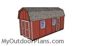 10x24 Gambrel Shed - Free DIY Plans