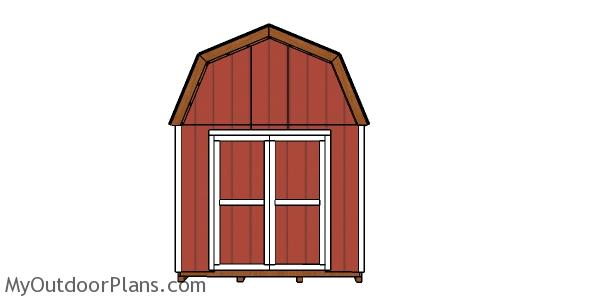 10x24 Gambrel Shed - Front view
