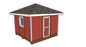 12×12 Hip Roof Shed – Free DIY Plans