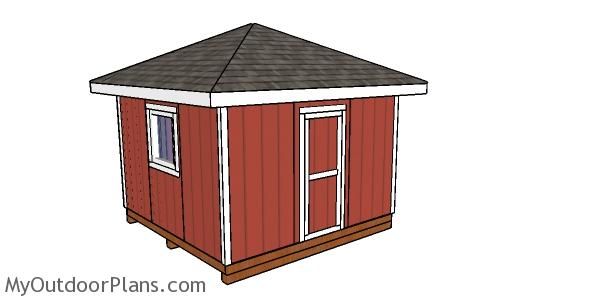 12x12 Hip Roof Shed - Free DIY Plans
