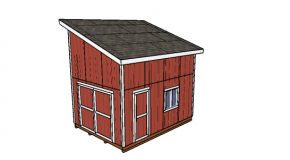 12×16 Lean to Shed with Loft – Free DIY Plans