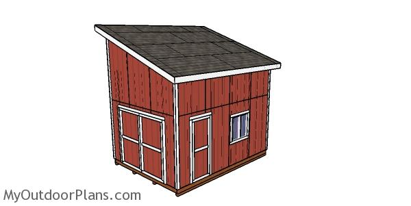 12x16 Lean to Shed with Loft Plans