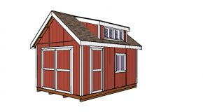 12×16 Shed with Dormer Plans