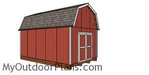12x20 Barn Shed with Porch Plans