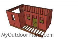 12x20 Barn Shed with Porch - base