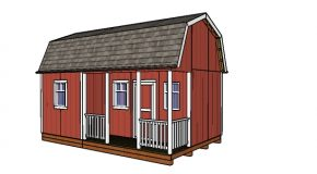 12×20 Barn Shed with Side Porch – Free DIY Plans
