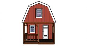 12×22 Small Barn Cabin with Porch – Free DIY Plans