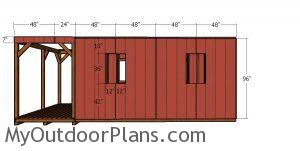 12x22 Barn Cabin Plans - side panels