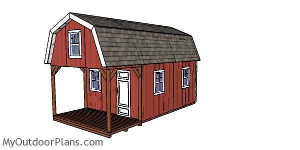 12x22 Barn Cabin Plans