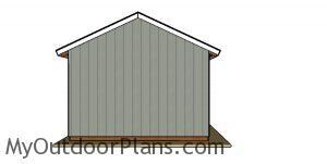 16x32Pole Barn Plans - back view