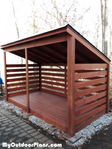 3-cord-Firewood-Shed---DIY-Project
