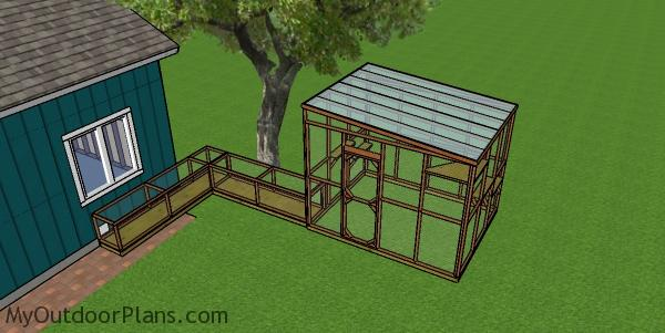 8x10 Catio Plans with tunnel