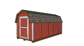8×20 Gambrel Shed Plans