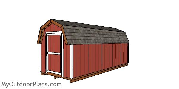 8x20 Gambrel Shed Plans