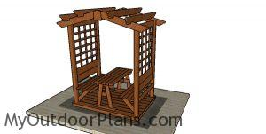 Arbor with picnic table plans