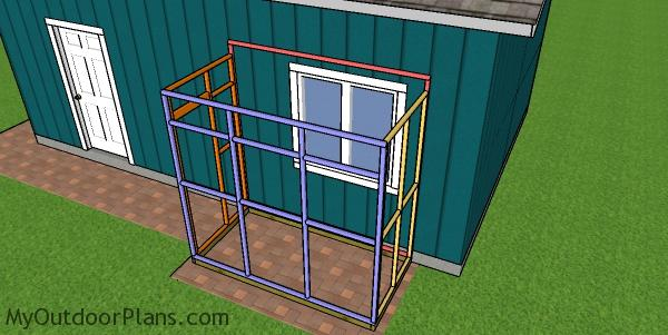 Assembling the 4x8 catio frame