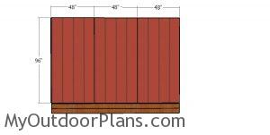 Back and side siding sheets