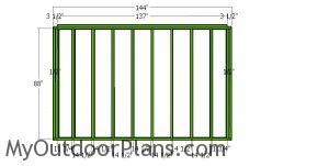 Back wall frame - 10x12 shed