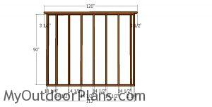 Back wall frame - 10x24 shed